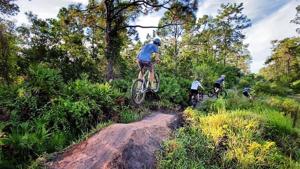 Mountain Biker Jumping Bike